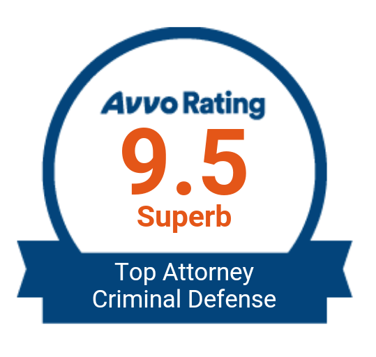 Avvo Rating 9.5 Superb - Top Attorney Criminal Defense